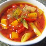 野菜たっぷり!濃厚トマトのミネストローネ